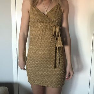 MISSONI GOLD MINI DRESS